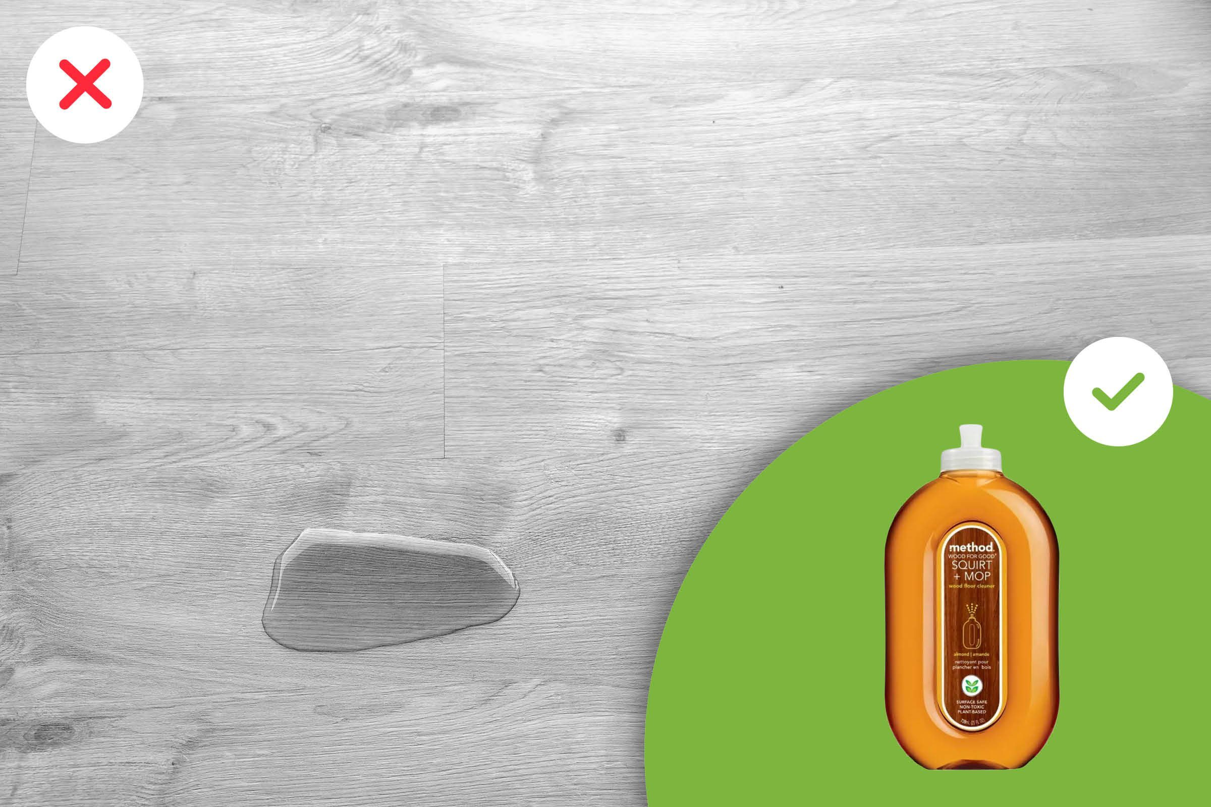 Products you should not use on a wooden floor
