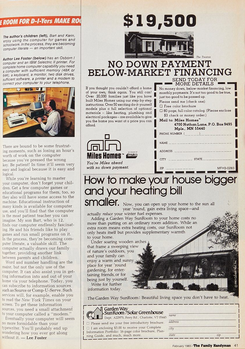 """Second page of vintage Family Handyman magazine spread: """"Can a Computer Help You?"""""""