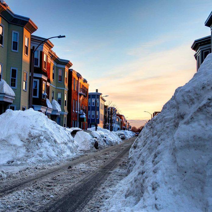 Neighborhood after a winter storm