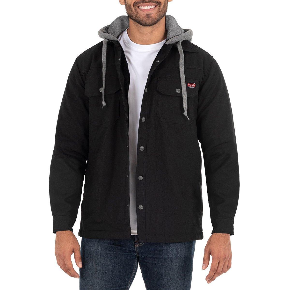 mens wrangler shirt jacket