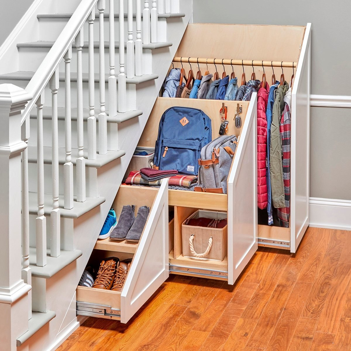 How To Build An Under The Stairs Storage Unit Family Handyman