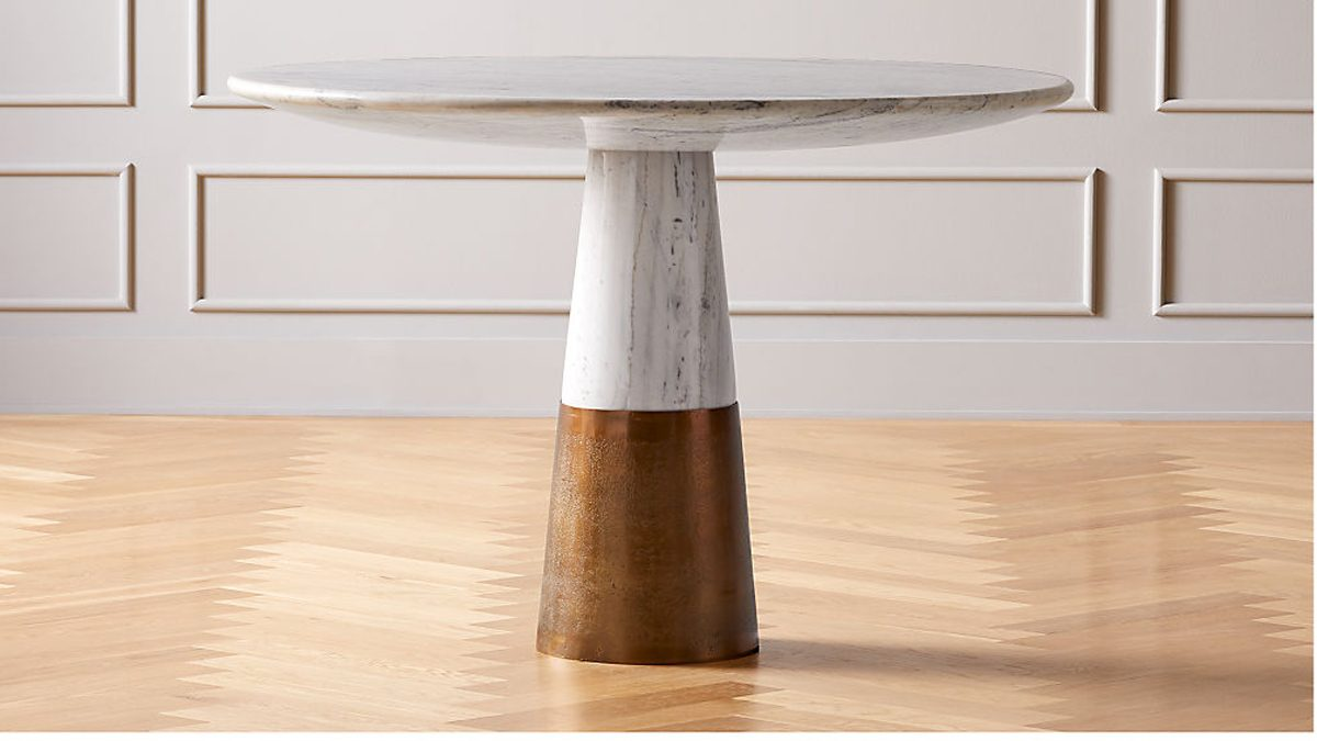 CB2 marble table