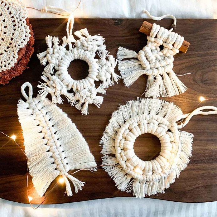 Macrame ornament