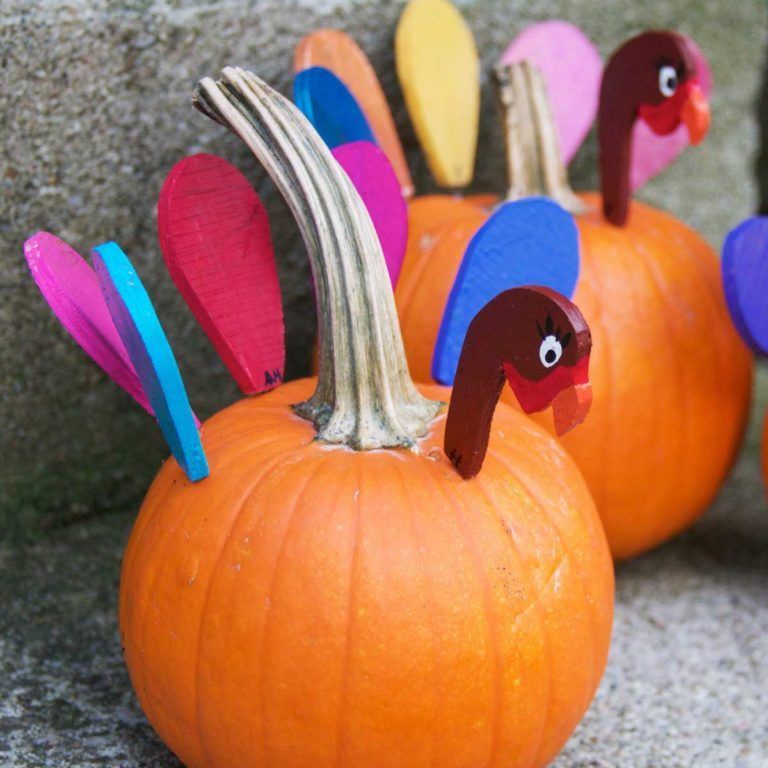 Pumpkin turkeys