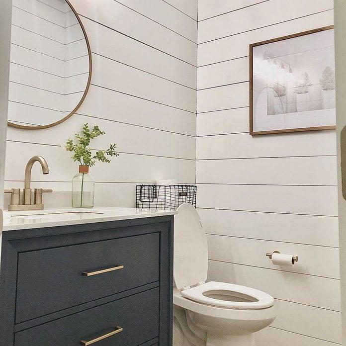 shiplap walls in bathroom
