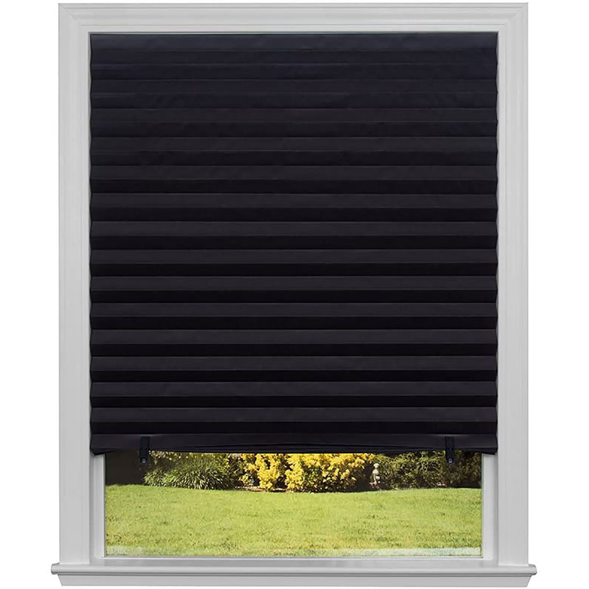 pleated blackout shade