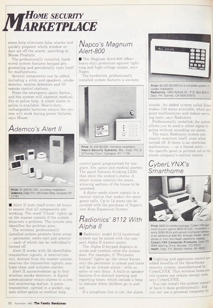Vintage Family Handyman Feature: Home Security