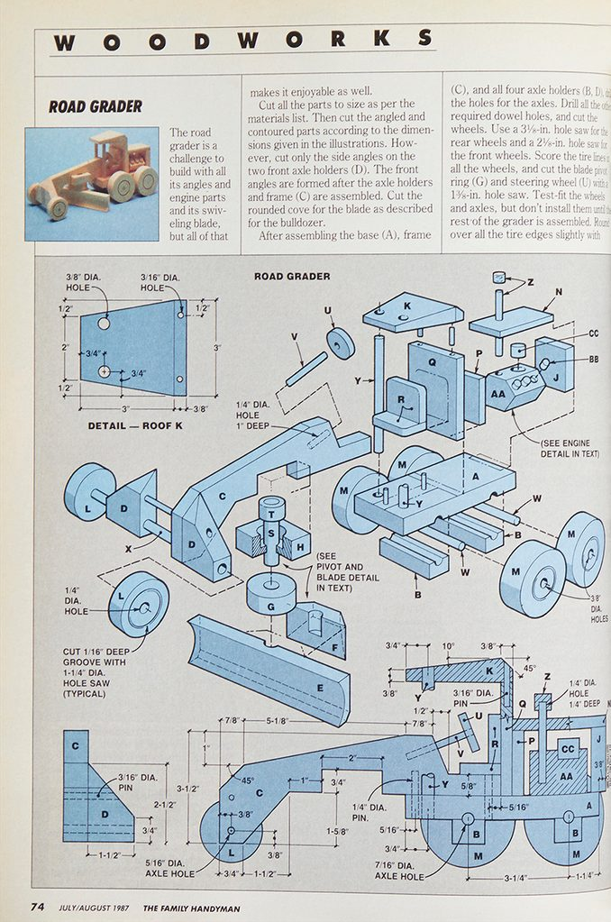 Vintage woodworking project: toys