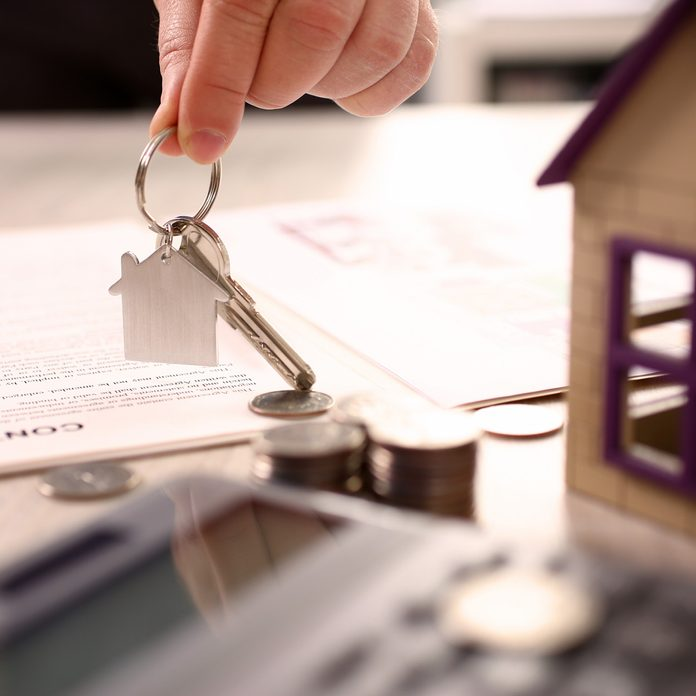 Home Real Estate Property Handover Sale Concept