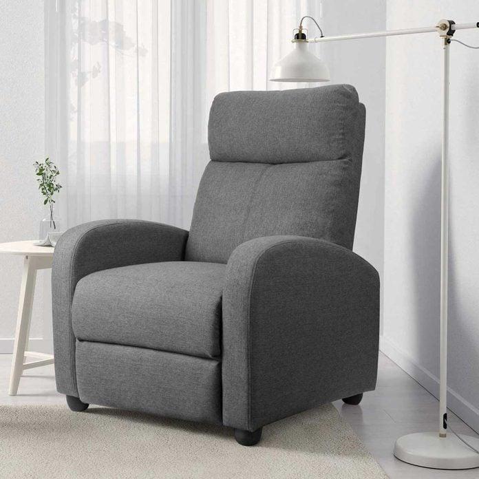 Gray recliner