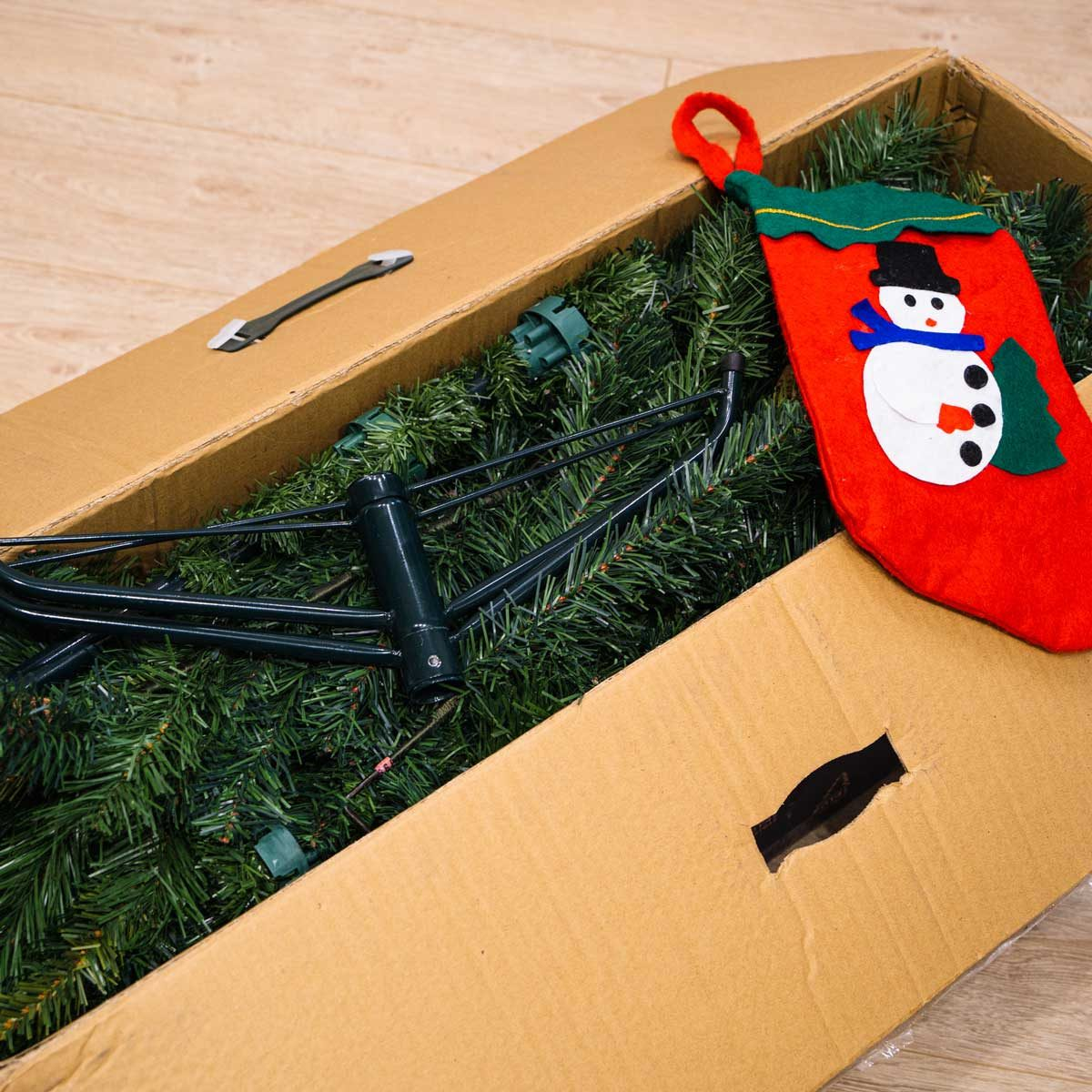Disassembled Christmas tree