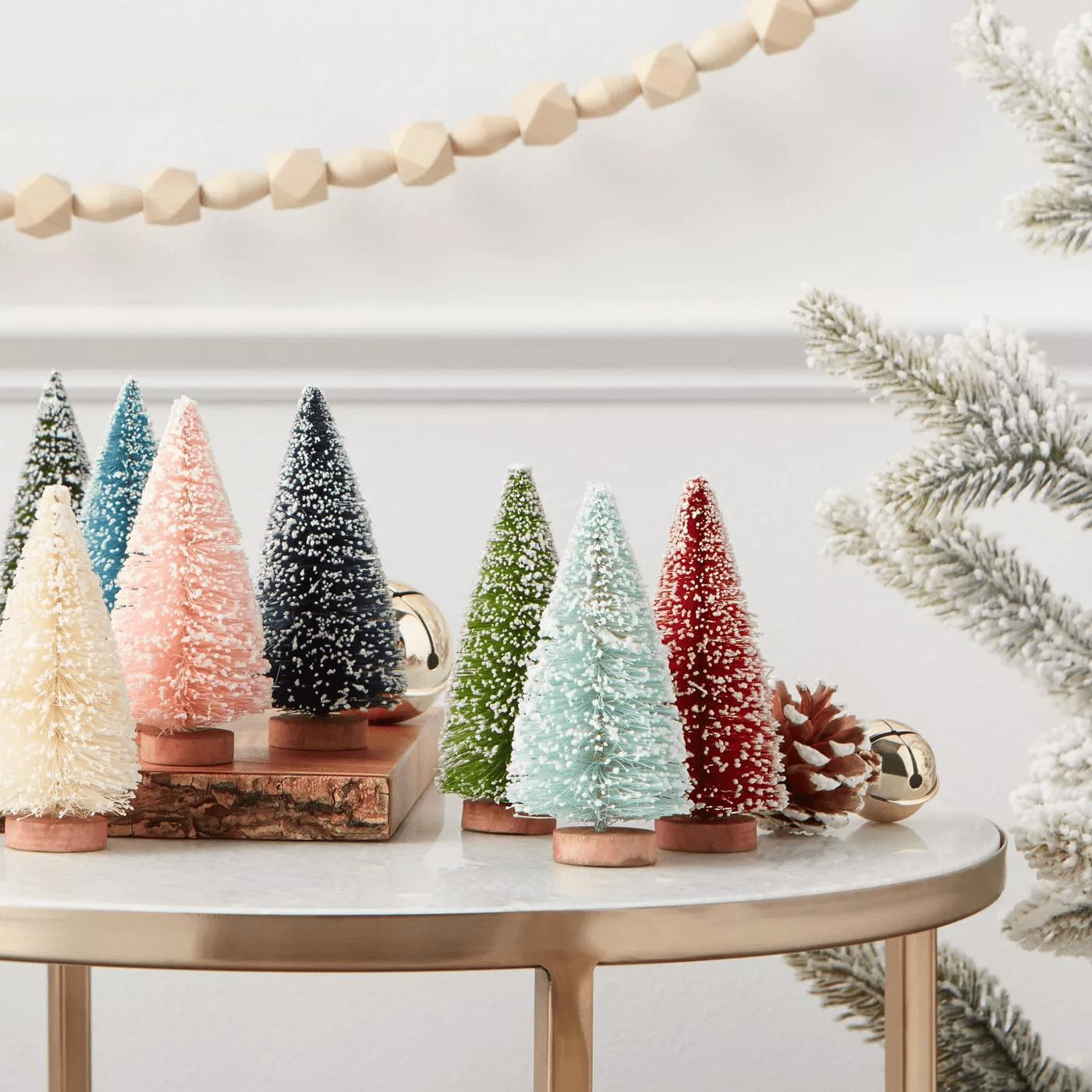 bottle neck christmas tree decor