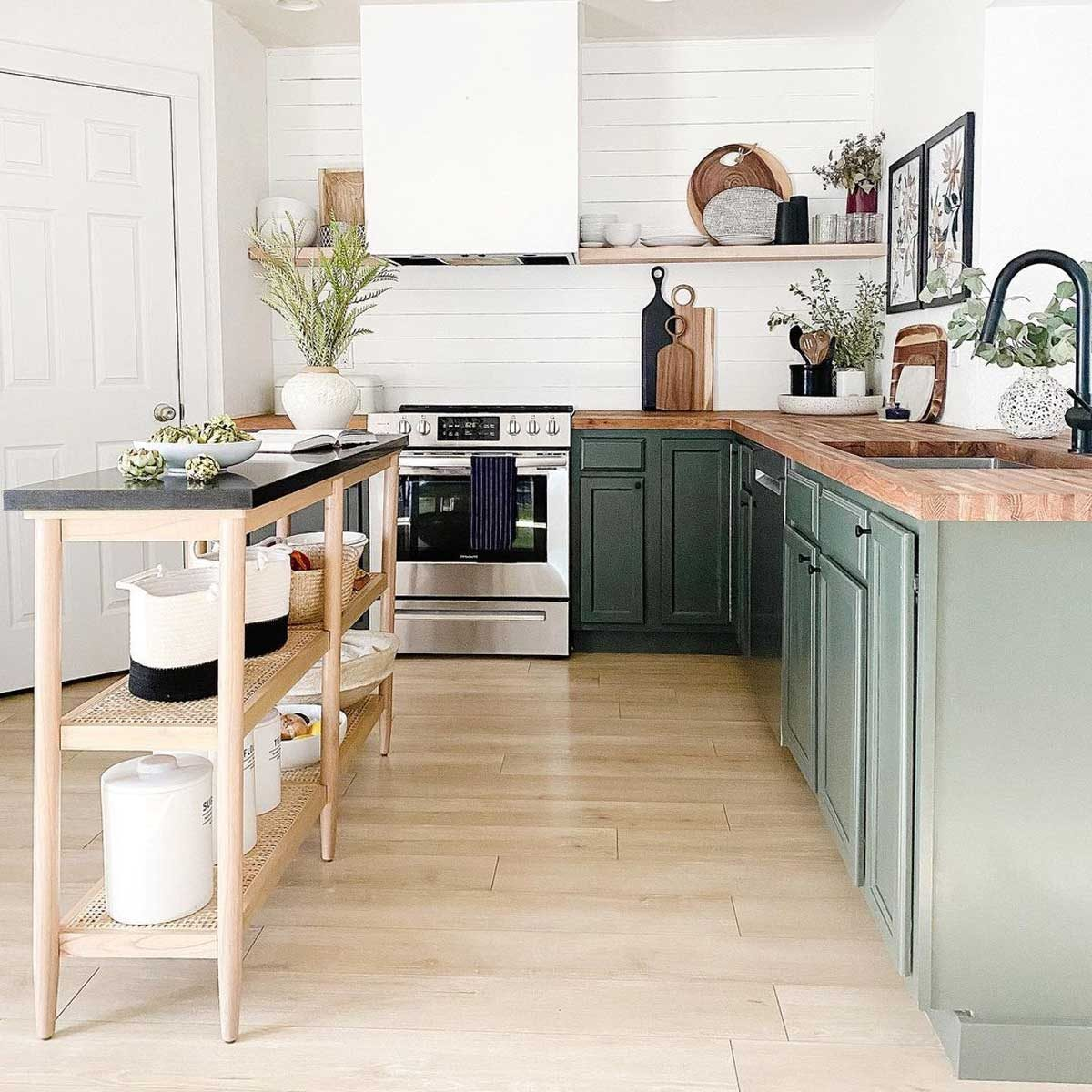 Kitchen with a DIY island
