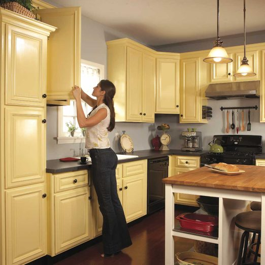How To Spray Paint Kitchen Cabinets Diy Family Handyman