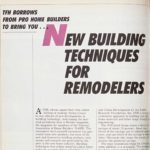 Vintage Family Handyman Feature from 1986: New Building Techniques for Remodelers