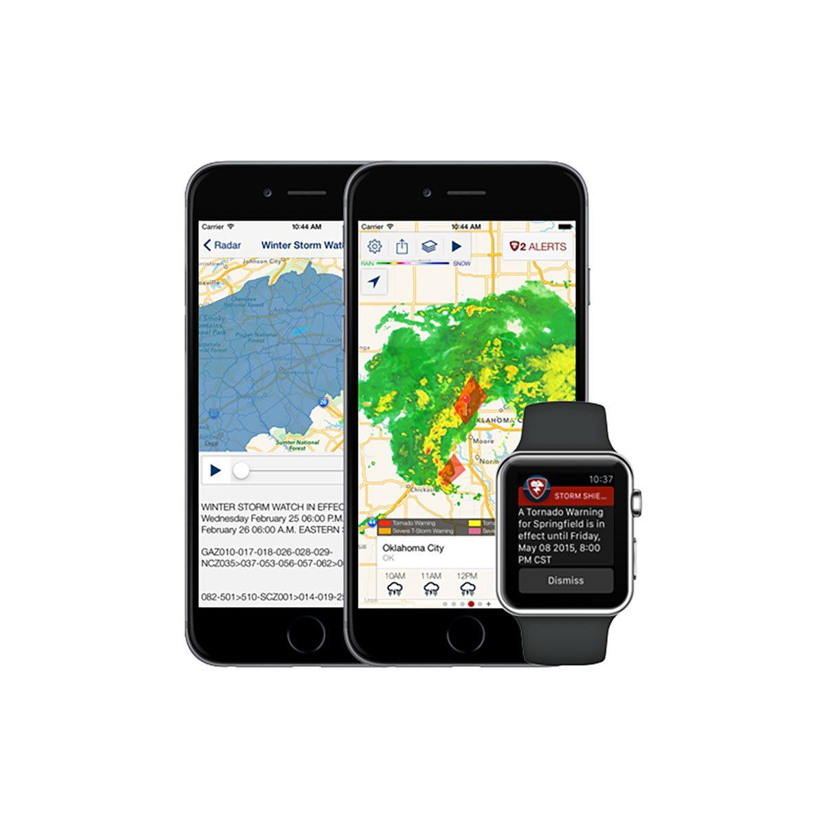 Sever weather warning app