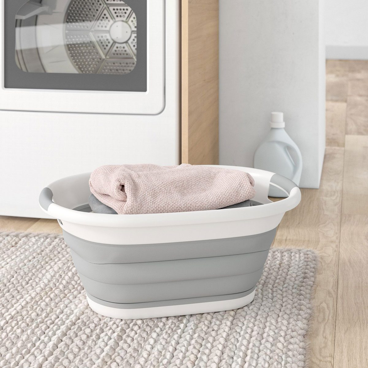 Collapsible+plastic+oval+laundry+basket