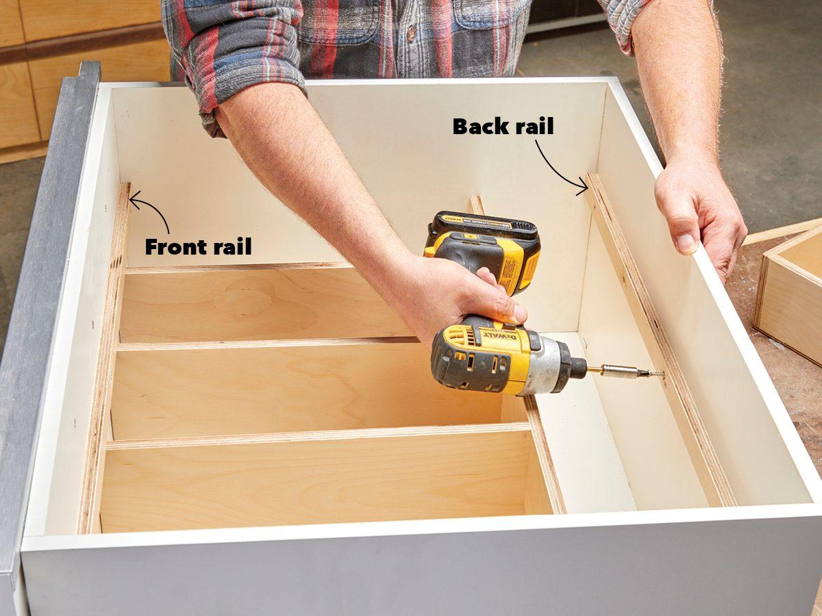 Build a tray and add rails Fh21mar 608 51 031