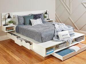 Super-Spacious Storage Bed