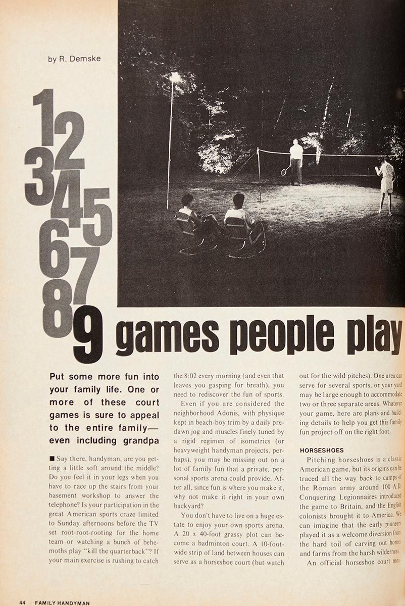 Vintage Backyard Games Projects