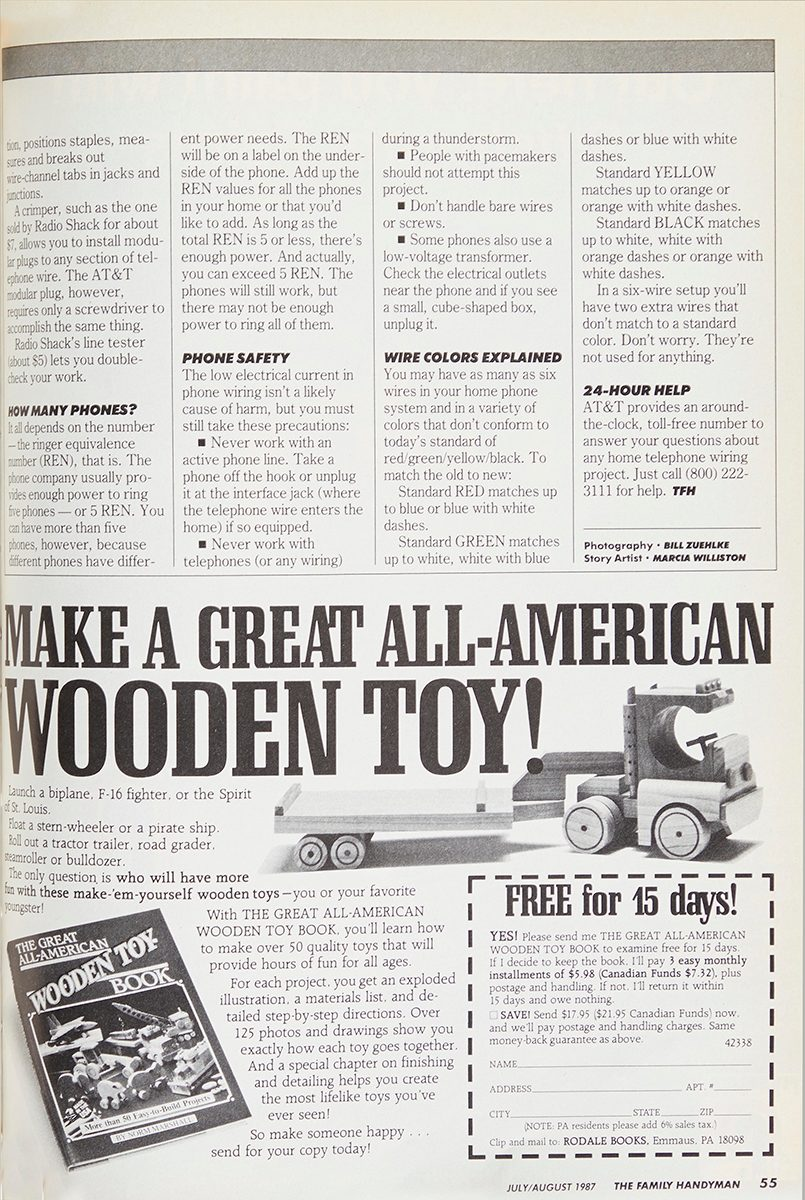 1987 Family Handyman article on installing phones