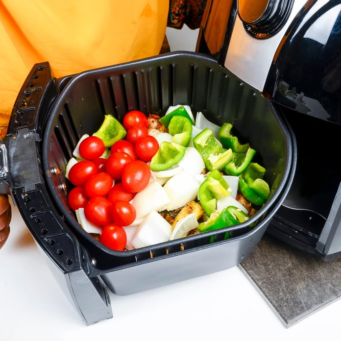 Seasoned vegetable air fryer cooked for healthier oil free foods Gettyimages 1221410932