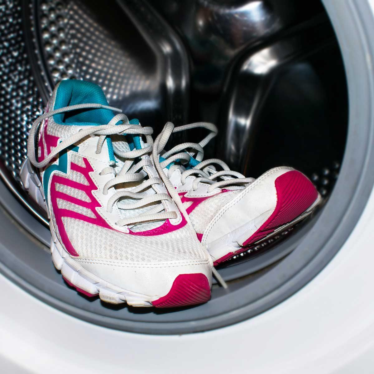 Washing sneakers