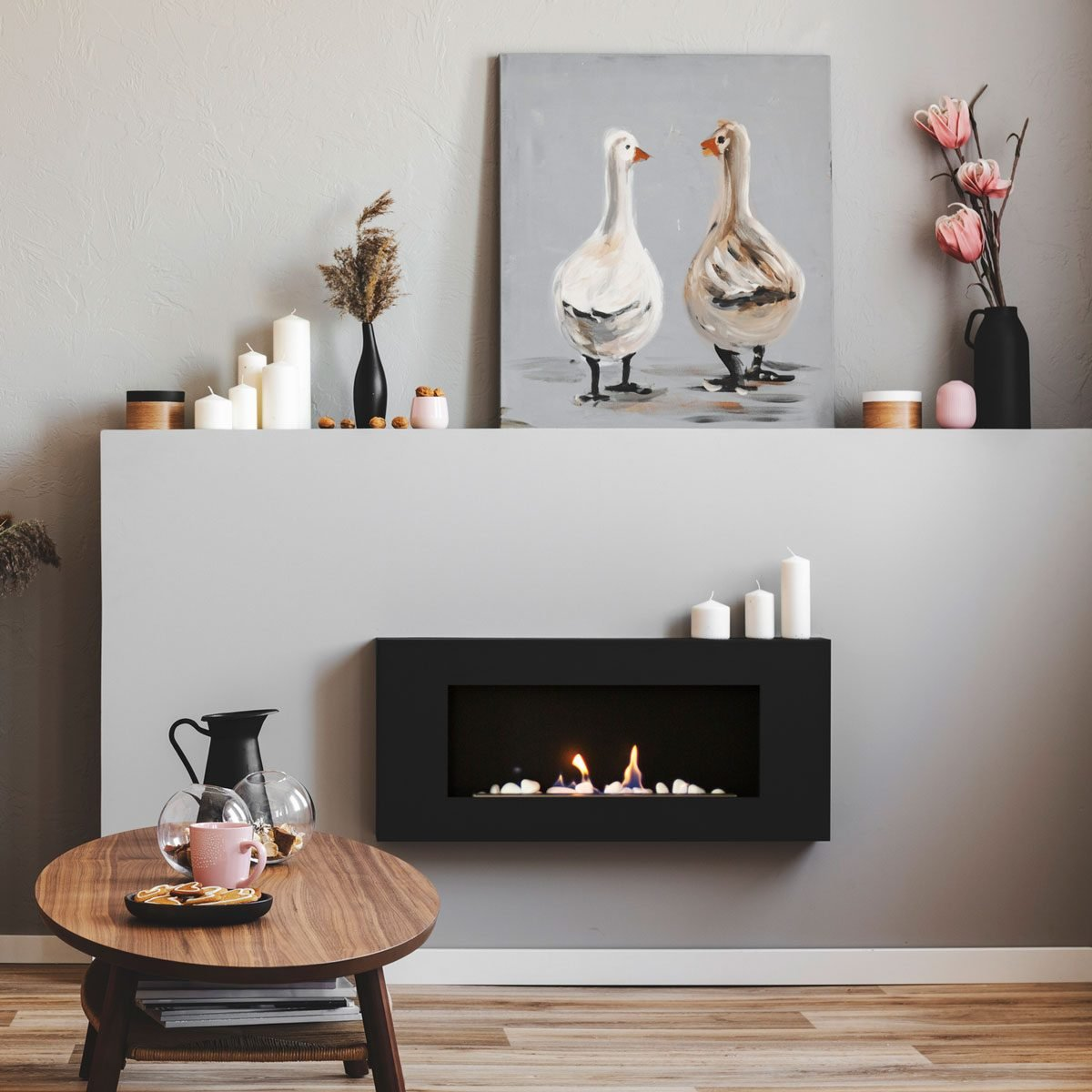 Electric Fireplace Gettyimages 1098280108