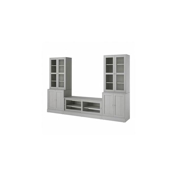 Entertainment Center Havsta Tv Storage Combination Glass Doors Gray 0914330 Pe783940 S5.jpg