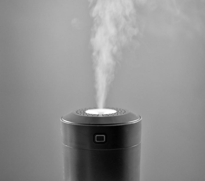 Vapor Coming From Electric Air Humidifier