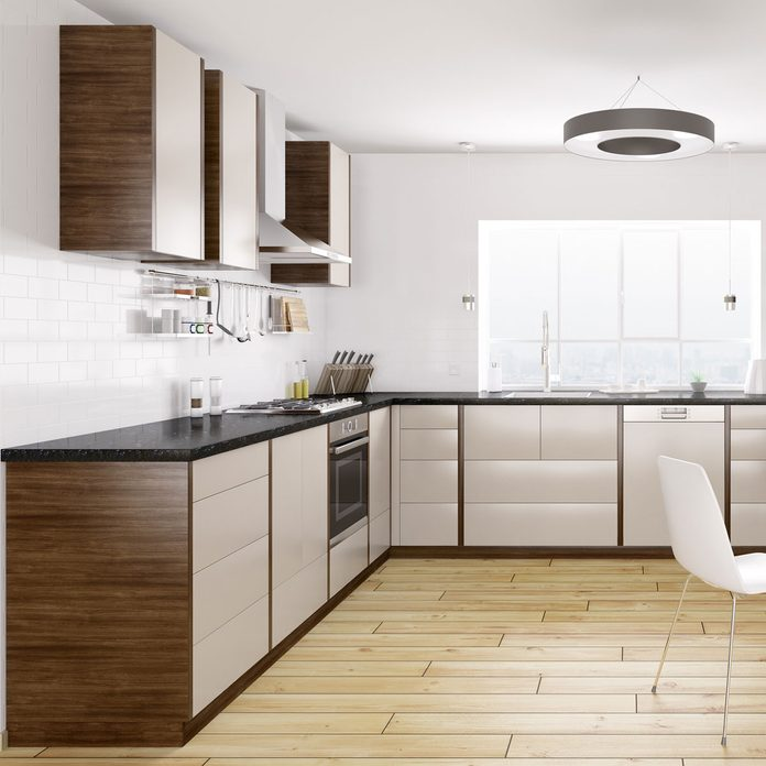 Cabinets with painted fronts