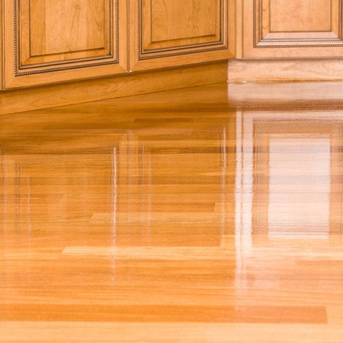 Shiny wood floor