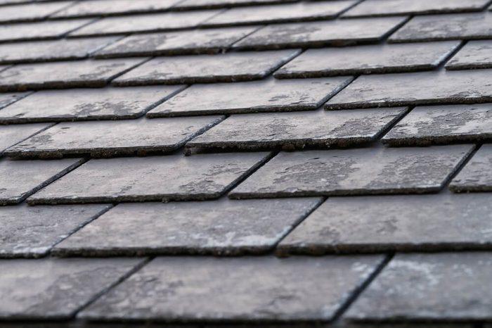 black shingles, roof tile