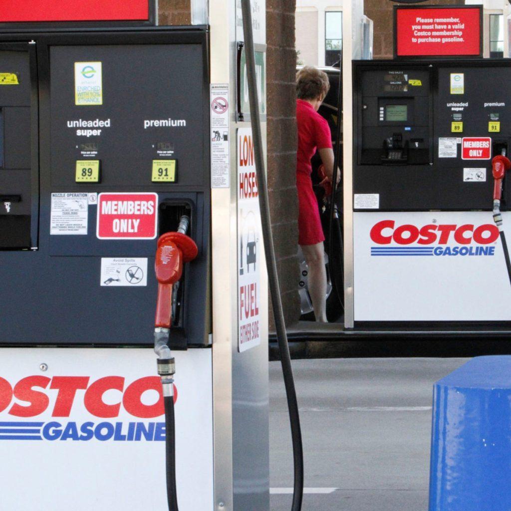 Costco gas pumps