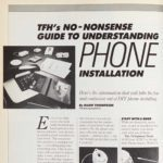 Vintage Family Handyman Feature from 1987: Landline Phone Installation