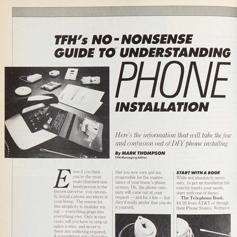 Square cropped 1987 Family Handyman article on installing phones