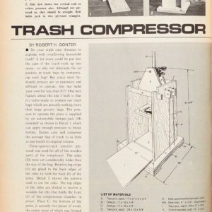 Vintage Family Handyman Project from 1970: How to Build a Trash Compressor