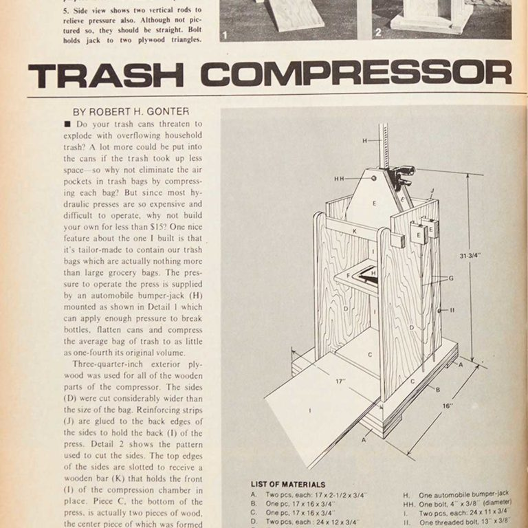 Trash Compressor Square Fh70oct 48 Feature Trash Compressor 1200