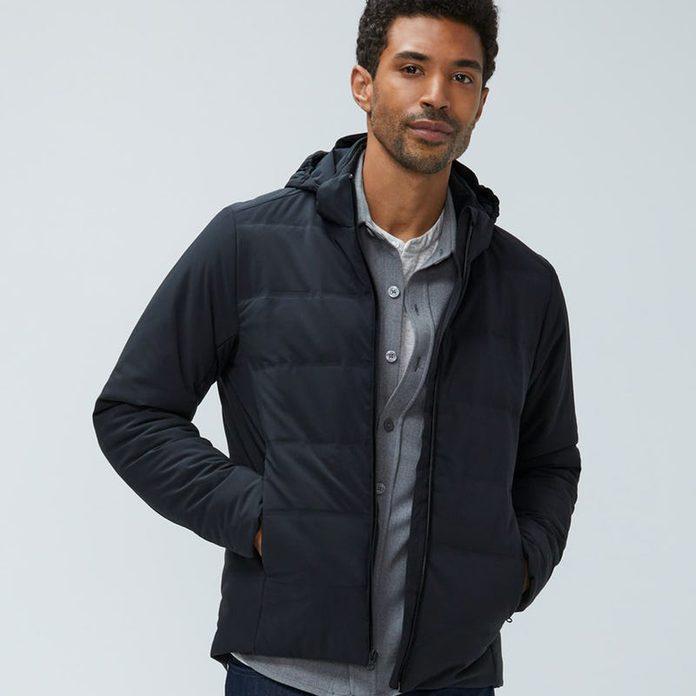 1608241390 Mos On Model Men S Fusion Overshirt Flint Grey Men S Mercury Intelligent Heated Jacket Black