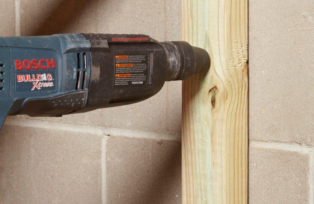 Drill wood with a masonry bit