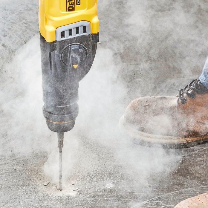 Drilling into concrete