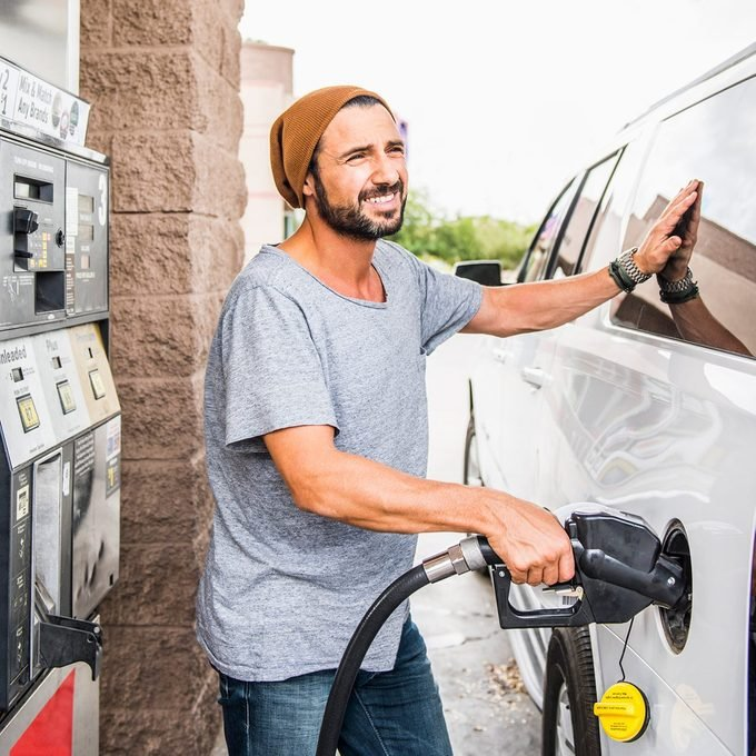 gas station fueling