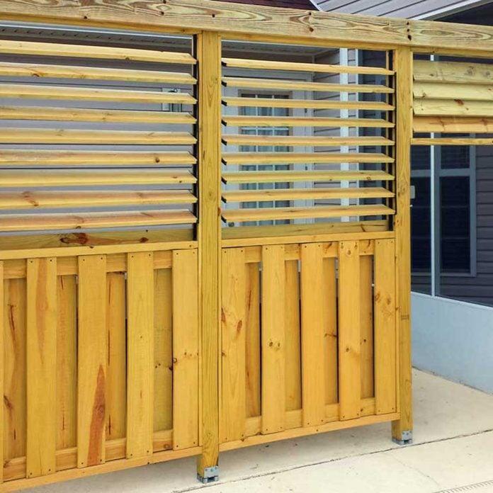 Privacy Screen Refit Existing Enclosures