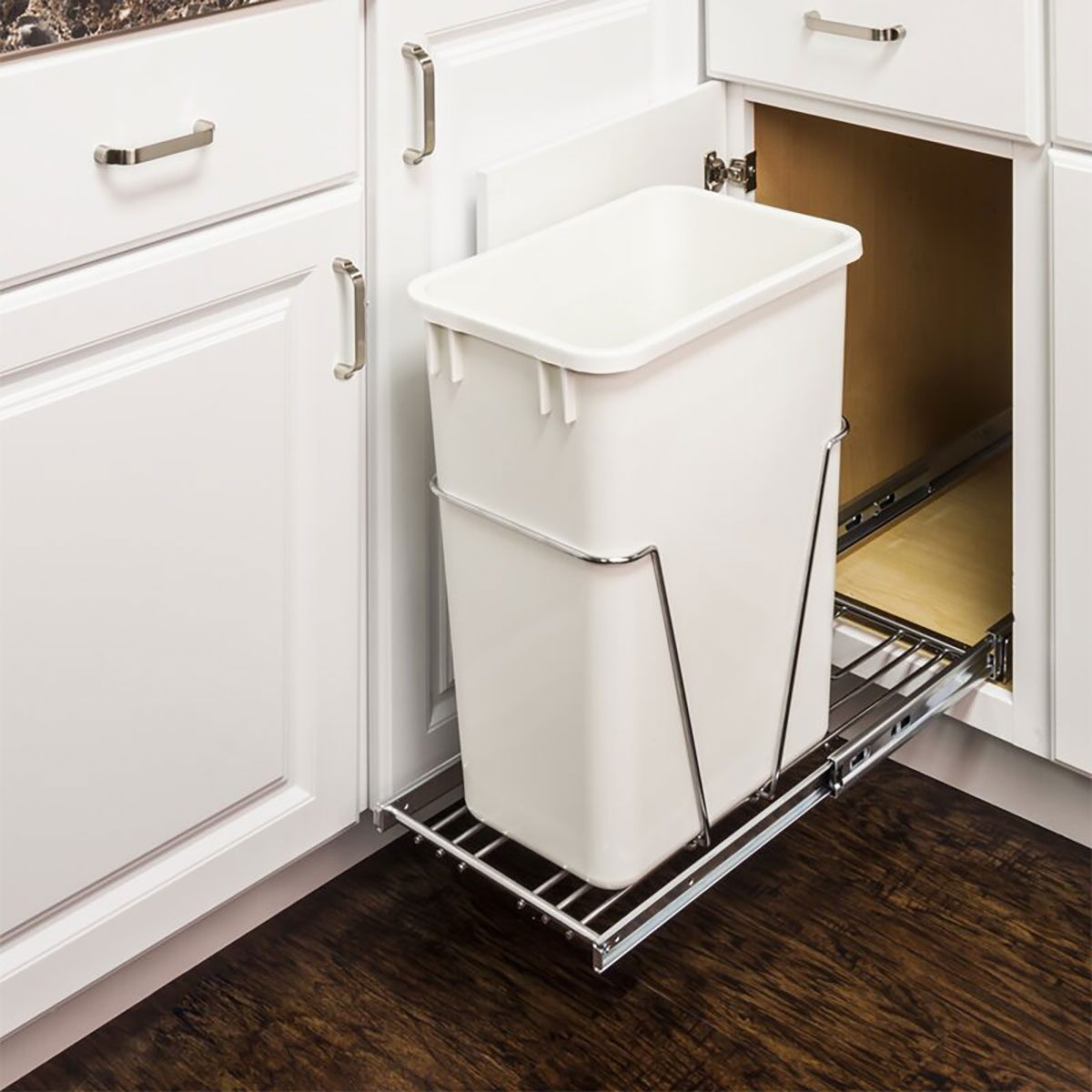 Roll Out Trash Under+counter+trash+can+holder