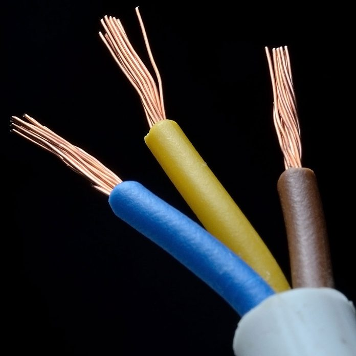 Yellow Blue Wire Gettyimages 1284976920