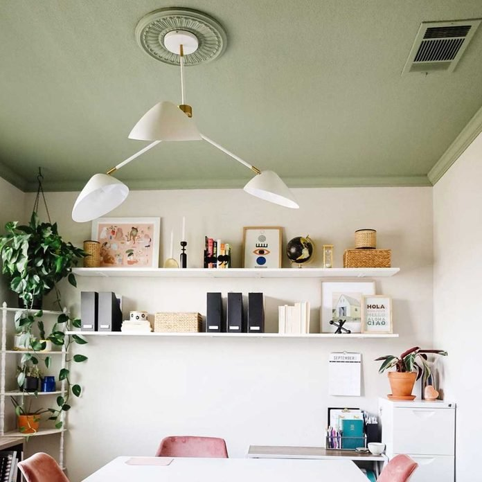 green ceiling paint
