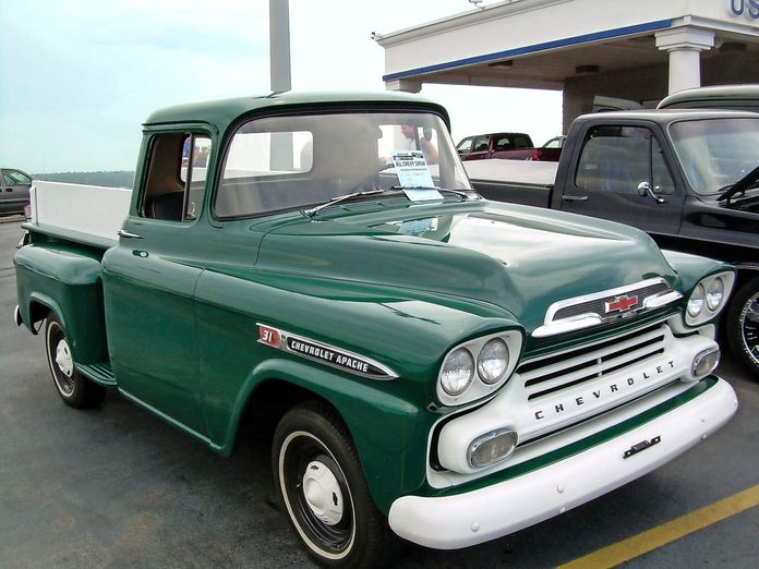 green chevy vintage apache