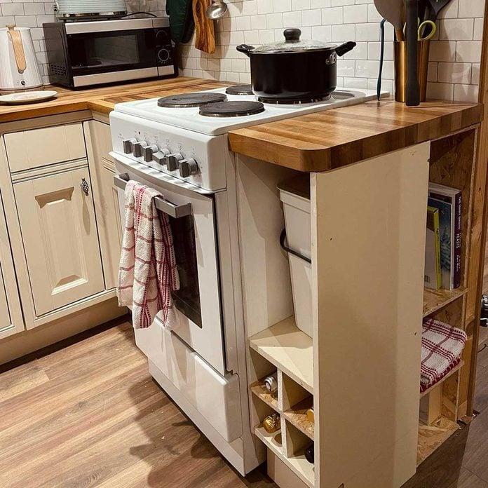 Cabin kitchen cabinet