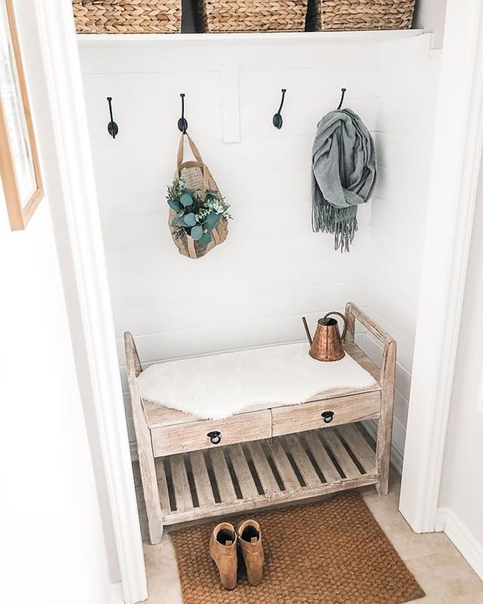 Entry Closet Bench