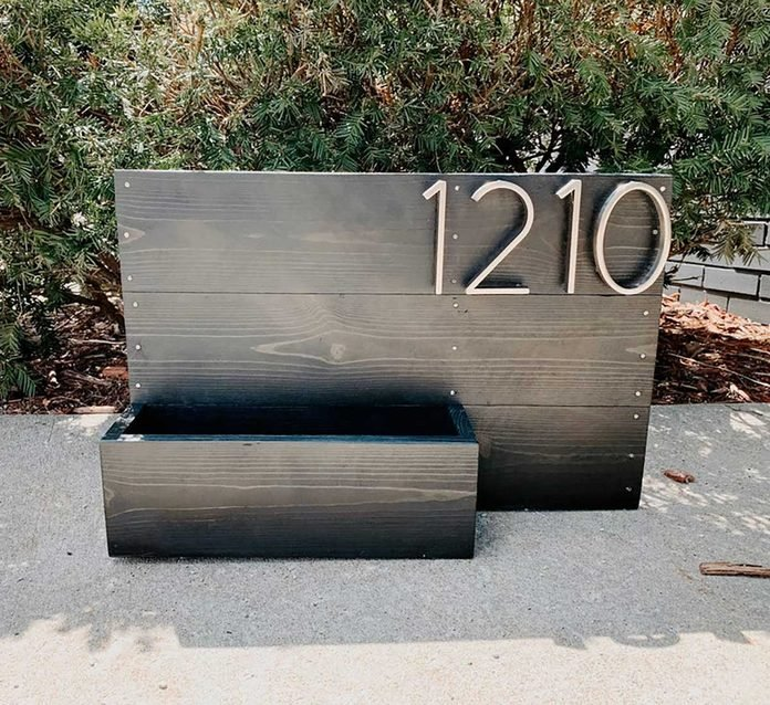 House Number Flower Box